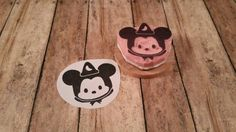 Sorceror Fantasia Mickey Mouse Tsum Tsum Plush Stuffed Scrapbook Ears Hand Carved Rubber Stamp by KindredStamps