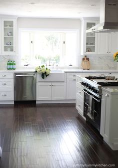Smart kitchen remodel, remove walls without moving gas range so it is in the middle of the room