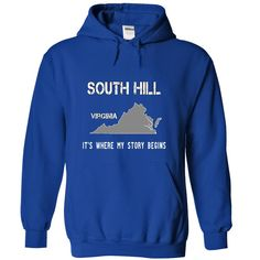 SOUTH HILL It's Where My Story Begins T-Shirts, Hoodies. GET IT ==► https://www.sunfrog.com/No-Category/SOUTH-HILL--It-RoyalBlue-19594471-Hoodie.html?id=41382
