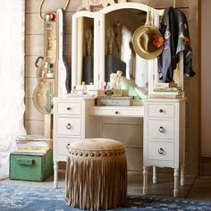 Find cute and cool girls bedroom ideas at Pottery Barn Teen. Shop your dream room with our teen room inspiration and ideas. Girls Bedroom Furniture, Shabby Chic Furniture, Painted Furniture, Bedroom Decor, Mdf Furniture, Furniture Buyers, Steel Furniture, Decor Room, White Furniture