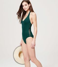 6577270c94388 26 Affordable Swimsuits That Are Ridiculously Flattering Halter Swim Top,  Halter One Piece Swimsuit,