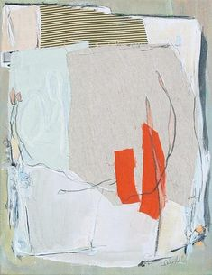 Karin Olah, painting with fabric and mixed media