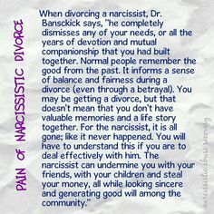 Getting divorced from a narcissist