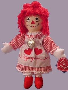 Valentine Raggedy Ann Doll for 2001