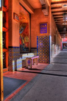 Tiled Resting Place, Santa Fe New Mexico