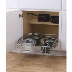 Lynk Chrome Pull-Out Cabinet Drawers | Cabinet drawers, Drawers ...