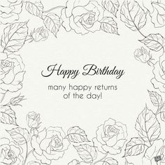 Vintage floral image with birthday wishes. Happy Birthday Sparkle, Happy Birthday Fireworks, 30th Birthday Wishes, Birthday Wishes Flowers, Happy Birthday Best Friend, Happy 7th Birthday, Happy Birthday Vintage, Happy Birthday Wishes Quotes, Happy Birthday Flower