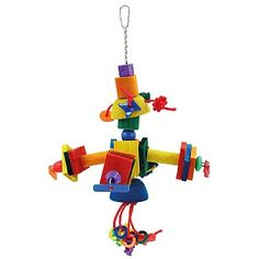 The Satellite - Wood and Rope Parrot Toy just £7.99 in our January Sale.