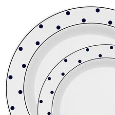 40 pc Black Dots White Plastic Dinnerware Value Set  sc 1 st  Pinterest & 40 pc Black Dots White Plastic Dinnerware Value Set | Plastic ...