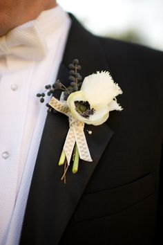 Cream Boutonniere With Berries | photography by http://spindlephotography.comhttp://spindlephotography.com