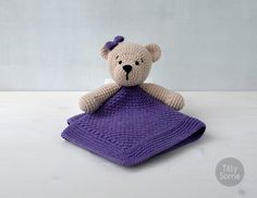 Instant download - --- This listing is only a PDF PATTERN, not a finished product ---  This adorable Teddy Bear lovey is a plush toy and security blanket all in one! Its perfect for babys little hands and will surely become a friend for your baby. Its a perfect gift for newborns! You can create something really special for little one!  This PDF pattern have detailed text instructions and photos to help you. Written in American English crochet terms.  DISCOUNT CODES: -15% for 2 patterns use…