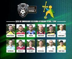 Jugadores Selección Asturiana Fútbol 7