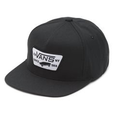 441769d6 Boys Full Patch Snapback   Vans Vans Hats, Vans Online, Black Vans, Back