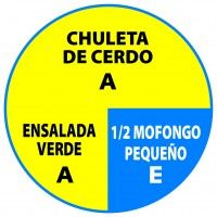 Chuleta Ensalada Mofongo