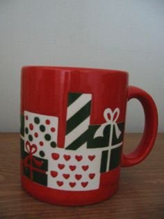 Waechtersbach W Germany Christmas Presents Mug Cup by Vntgfindz, $9.99