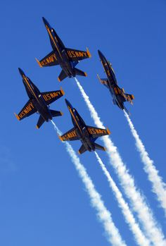 "US Navy planes in formation Enter The Saturday Evening Post ""Tribute to Our Troops"" contest: https://apps.facebook.com/easypromos/promotions/79941"