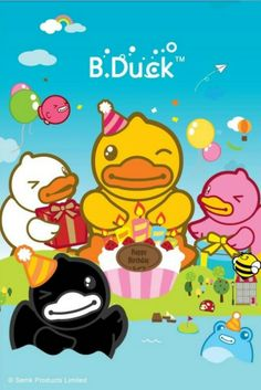 Birthday b duck Happy Birthday Wishes, Buffy, Rubber Duck, Happy Life, Tweety, Pikachu, Cartoon Characters, Fictional Characters, Projects To Try