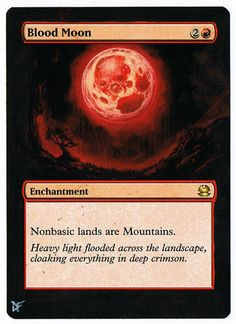 MTG Altered Painted Blood Moon Modern Masters FREE SHIPPING #WizardsoftheCoast