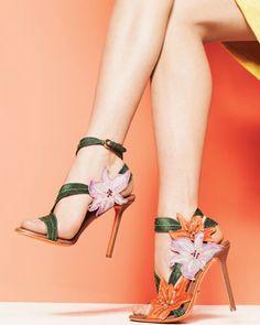 Sergio Rossi ... I love flowers ;)