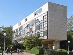 Pavillon Suisse, Cité internationale universitaire de Paris (Francia) | Le Corbusier | 1933  + http://www.fondationsuisse.fr/en/architecture-space/the-swiss-pavilion-history/