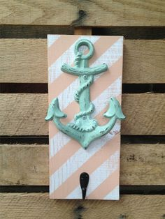 Nautical Anchor Hook, READY TO SHIP,Ship Anchor,Wall Metal Hook,Bath Towel Hook,Beach House Decor,Accessory Holder,Distressed Ornate Hanger on Etsy, $20.00