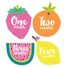 Lucy Darling 'Little Tutti Frutti' monthly baby stickers