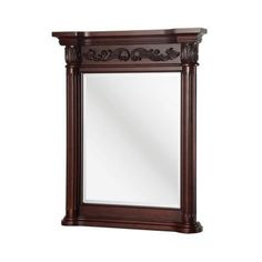 Belle Foret Estates 28 in. W x 34 in. L Wall Mirror in Rich Mahogany-ETGM2740 - The Home Depot