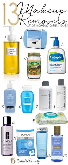 What are the favorite makeup removers of professional makeup artists?