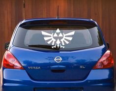 """12"""" by 8"""" #Zelda hylian crest - Triforce decal for your car!"""