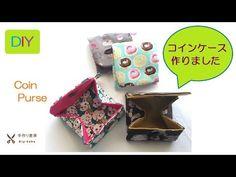 DIY コインケース縫いました Coin money purse mini wallet - YouTube
