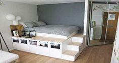 Le lit avec rangement la solution gain de place en déco de chambre. Rangez votre chambre avec ces DIY déco de lit bateau, sur estrade, lit en palette ou à baldaquin à faire soi-même