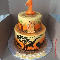 50 Most Beautiful looking Lion King Cake Design that you can make or get it made on the coming birthday. Lion King Theme, Lion King Party, Lion King Birthday, Baby Birthday, Lion Guard Birthday Cake, Lion King 3, Birthday Ideas, Gateau Baby Shower Garcon, Peter Pan Cakes
