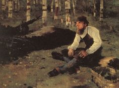 the charcoal burner 1882 oil on canvas 90 x 120,Helene Schjerfbeck