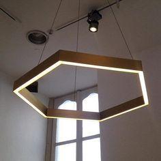 Brass hex light from Resident Studio--Saloni