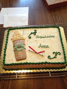 Starbucks graduation cake