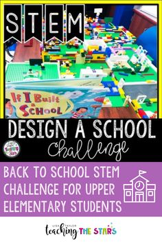 Design a School STEM Activity! Are you looking for a fun STEM activity that connects to the book If I Built a School by Chris Van Dusen? Great for Distance Learning! Designing a School STEM Challenge gives students the opportunity to design and create their perfect school. It is a fun team building activity that gets students thinking critically as they build their perfect school after reading the book. Great for third, fourth, fifth, or sixth grade students. Fun Team Building Activities, Interactive Activities, Stem Activities, Elementary Teacher, Upper Elementary, Elementary Schools, Student Teaching, Stem Teaching, Teaching Resources