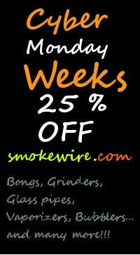 Cyber week discount, sales glass pipes, water pipes
