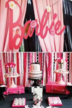 Bridget of LundynBridge Events! knows how to strut her stuff! How AMAZING is this {Fashion Runway} Stylish PINK Barbie Party for her da