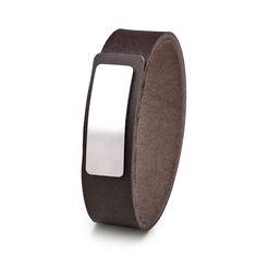 Wear Clint - Tuigleren armband (18mm / bruin) met RVS-sluiting. Een stoer design voor mannen en vrouwen! Rvs, Fitbit, Ready To Wear, How To Wear, Design, Fashion, Wristlets, Moda, Fashion Styles