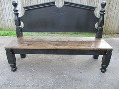 Bed frame bench