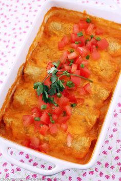 Taco Enchiladas with Cheese Sauce