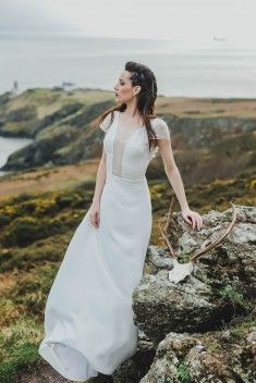 Robe de mariée Mathilda par Caroline Quesnel collection 2017