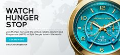 Watch Hunger Stop One watch can feed 100 .glad to see this collaboration, Michael Kors with Halle Berry and the United Nations WFP Mk Watch, Gold Watch, Charity Fund, World Hunger, Children In Need, Worlds Of Fun, Cover Photos, Cool Watches, Michael Kors Watch