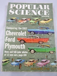 1957 Popular Science Magazine November Auto by BonniesVintageAttic, $19.00