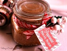 Peppermint Sugar Scrub - Body Scrub Recipe - Todays Creative Blog