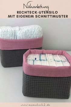 Today, we sew storage baskets in your desired size. With easy-to-nähbarem waffle pique and cotton this is a perfect project for Beginners. I'll show you how to do your own sewing pattern create your Utensilo sizes to choose. Sewing Crafts, Sewing Projects, Diy Projects, Furniture Projects, Diy Furniture, Art Minecraft, Paint Your House, Sewing For Beginners, Diy Hacks