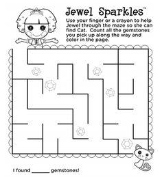 Lalaoopsy printable Maze
