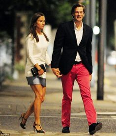 Fancy a stroll? Pippa Middleton and her boyfriend Nico Jackson enjoy a night out in Chelsea