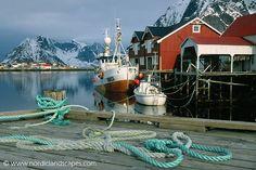 Fishing trawler in Reine, Norway