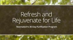 More recipes to complement Mannatech's Cleanse Program